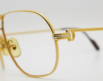 6248a6dc5d6 CARTIER 1988 TANK 62-14 140 Gold Plated Made in France Original Vintage Frame  Sunglasses Classic Moda 80