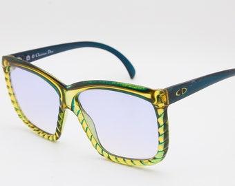 82e7ebb0893c CHRISTIAN DIOR by OPTYL 2065 50 Made in Germania Original Vintage Sunglasses  Classic Oversize Elegente Moda 70 Multicolor Unisex Hippi Boho