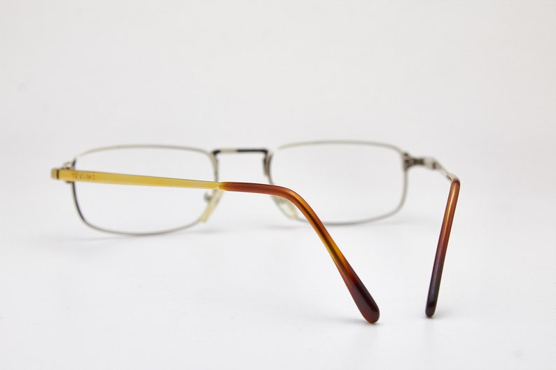 Vintage Glasses VERSACE Mod.V06 Col.039 Man Square High-Fashion Steampunk Eyewear Metal Unisex Luxury Eyeglasses Frame For Sunglasses N.O.S