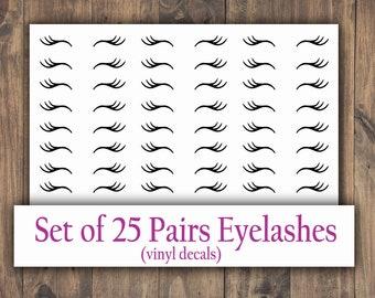 Unicorn Eyelashes Lashes Stickers I Decal Crafts DIY Baubles Wall Size /& Packs