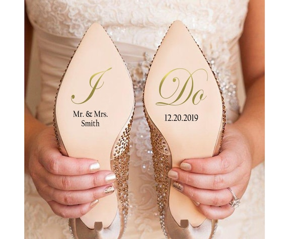 I Do Wedding Shoe Stickers Decal Engagement Present