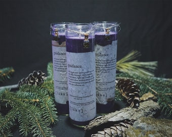 """guidance [ l ä k a ] 8"""" intention candle - enhanced with organic dandelion and olive oil infusion"""