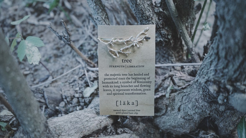 tree  l ä k a  hair clip  gold or silver image 0