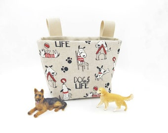 winter birthday ready to ship Zipper pouch with Dogs in sweaters and Cats in scarves kids Christmas gift under 15 dollars Pencil case