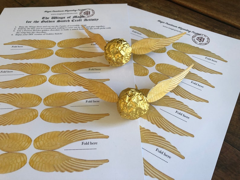Golden snitch inspired Harry Potter party activity  Wedding image 0