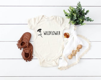 df550618a Wildflower | Infant onesies | Kids | Toddler | Children's Clothing | Style  | Rabbit Skins | Natural | Onesie | Bodysuits | Unique