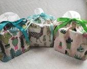 Tissue box cover Llama Cactus printed fabrics, Square Fabric Box Tissue cover, Cactus Fabric Tissue Box Cover, Llama Tissue Box