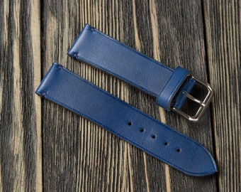 f2f0d8ca2 Vintage Blue Leather watch strap 16 mm 17 mm 18mm 19 mm 20mm 21 mm 22mm  24mm leather watches straps Blue leather watch band