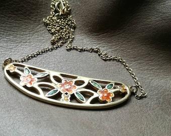 Nouveau Style Nature Stone Velvet Leather Tassel Collier Longue Chaîne Pendentif Bijoux