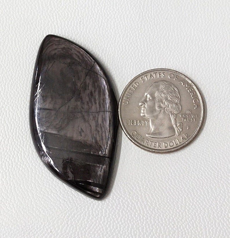 Hypersthene Loose Gemstone For Making Wire Wrapping Pendant7 47X25X5mm Fancy Natural Hypersthene Very Fine Quality Cabochon Gemstone