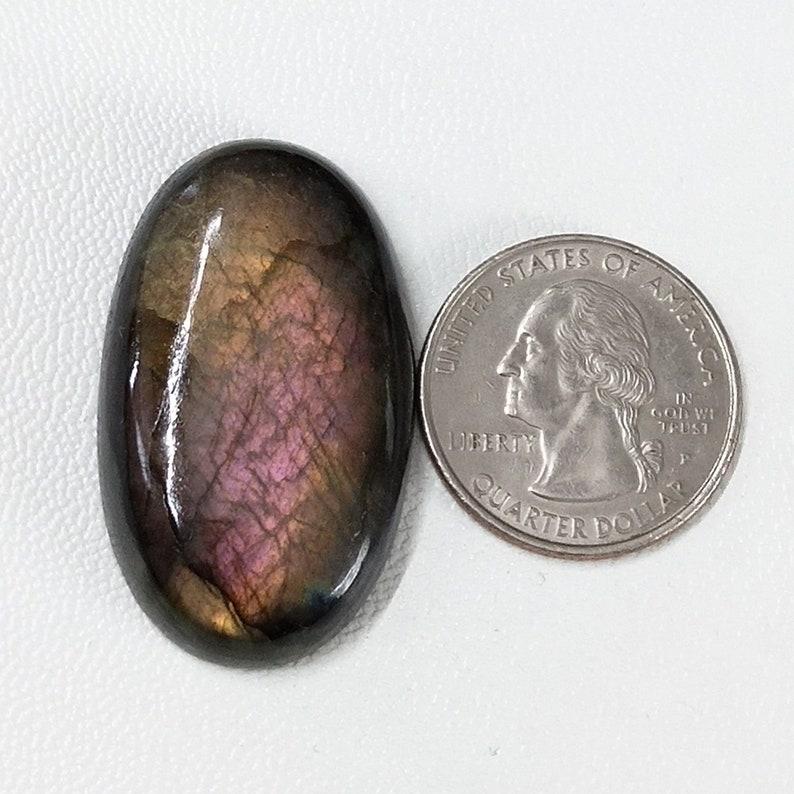 Labradorite Gemstone Loose Gemstone For Making Wire Wrapping Pendant Amazing Purple Labradorite Oval 38X23X7mm Cabochon Gemstone