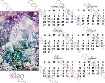Calendrier Digital.Clips Calendrier Etsy