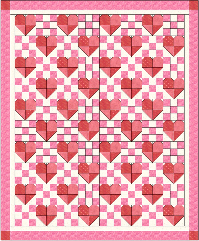 9-Patch Hearts Pattern image 0