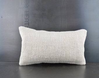 2d02d546463ce Decorative Throw Pillow, 12x20 Pillow Case, Neutral Home Decor, Handwoven  Carpet pillow, Beeding Pillow, Natural Kilim Pillow, Kilim Lumbar
