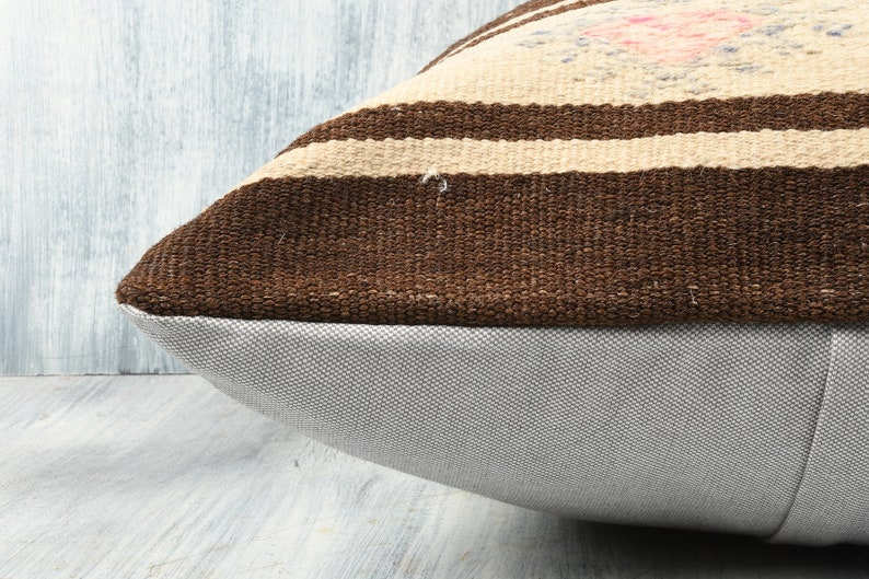 Accent Pillow 20x28 Decorative Kilim Pillow Cushion Cover Colorful Throw Pillow Cover Kilim Lumbar Handmade Pillow Geometric Pillow