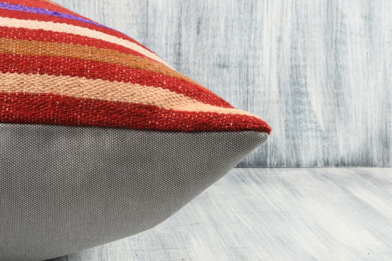 Decorative Throw Pillow Floor Cushion Cover 24x24 Turkish Pillow Cover Boho Carpet Pillow Couch Aztec Pillow Bohemian Kilim Pillow