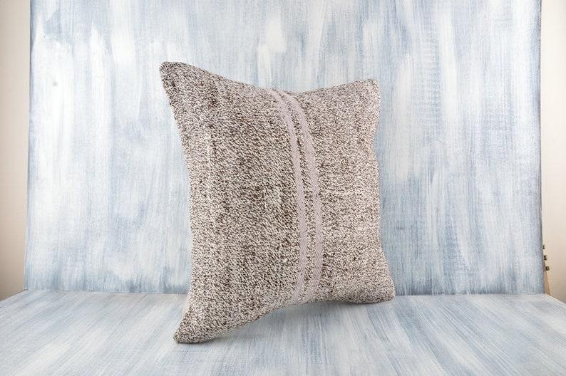 20x20 Turkish Kilim Pillow Home Decor Organic Pillow Couch Throw Pillow Cotton Aztec Pillow Cover Decorative Turkish Kilim Pillow