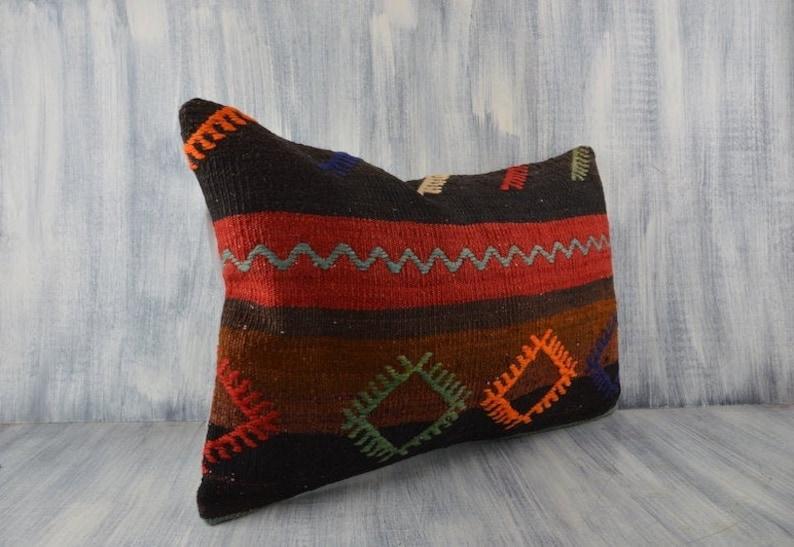 Decorative Sofa Throw Pillow Boho Carpet Pillow 16x24 Pillow Cover Bohemian Kilim Pillow Floor Cushion Cover Organic Aztec Pillow