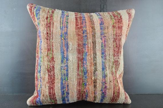 Striped Pillow 4936 20x20 Anatolian Pillow,Sofa Pillow Covers,Throw Pillow,Red Pillow Turkey Kilim Pillow Decorative Pillow,Best Pillow