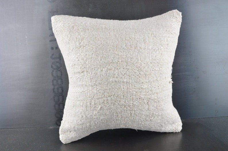 Accent Pillow Ethnic Sham Cover Handwoven Kilim Cushion Cover 16x16 Turkish Kilim Pillow Couch Throw Pillow Bohemian Carpet Pillow