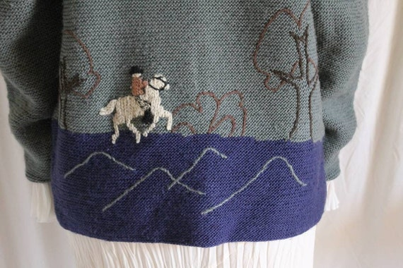 Beautiful austrian scenic tracht sweater with Ali… - image 2