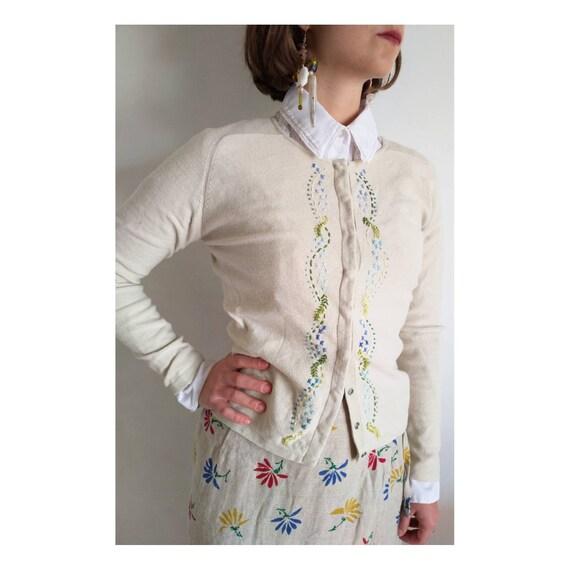 Laura Ashley cardigan, Vintage Laura Ashley knit,