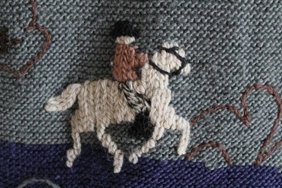 Beautiful austrian scenic tracht sweater with Ali… - image 4