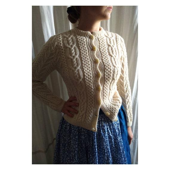 Hand knitted austrian Trachten jacket, austrian kn