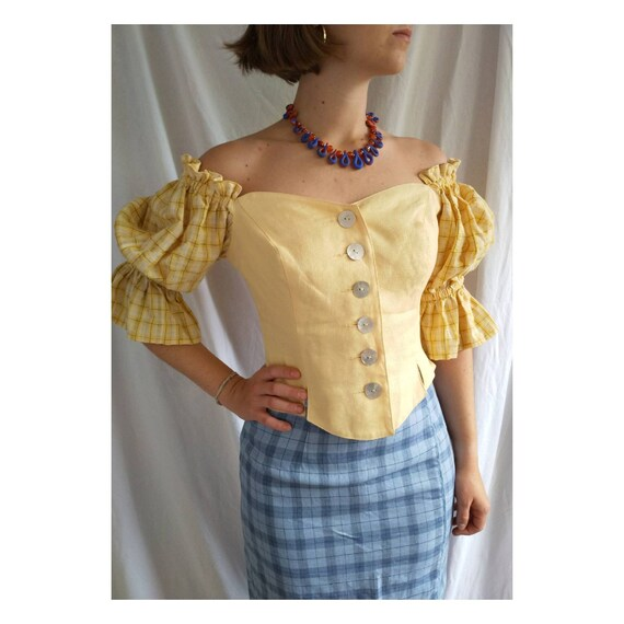 Austrian linen bodice, austrian corset, austrian C