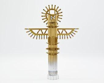 Totem, sculpture, hand-painted 3D print figurine, Totem #6