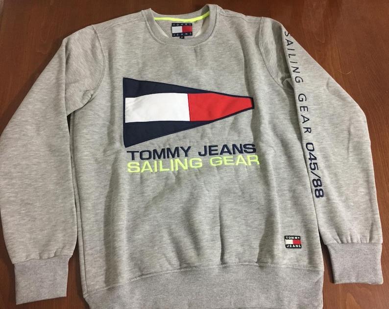 aefdd0c5 Vintage Tommy Hilfiger Sailing Flag Logo Crewneck Sweater | Etsy