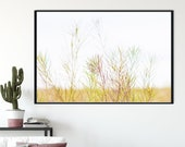 Yellow Wavy Grass Wall Art, Spring in the Desert Picture Printable, Printable Wall Home Decor, Contemporary Nature poster, Botanical Art