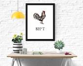 Chicken S**T Funny Sign | Funny Farmhouse Signs | Best Friend Gifts | Instant Download Art Print | Printable Sign | Funny Wall Art