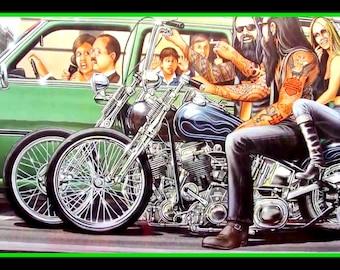 "Just Ride Flames Motorcycle Biker Decal 11.5/"" x  3/""  Bumper Sticker"
