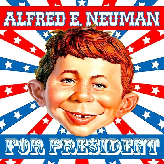 """MAD Magazine decal. 4.5/"""" Alfred E Me Worry?/"""" vinyl sticker Neuman /""""What"""