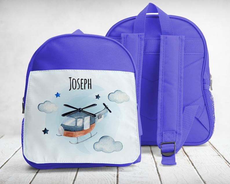 kindergarten-sport binder backpack Helicopter to customize