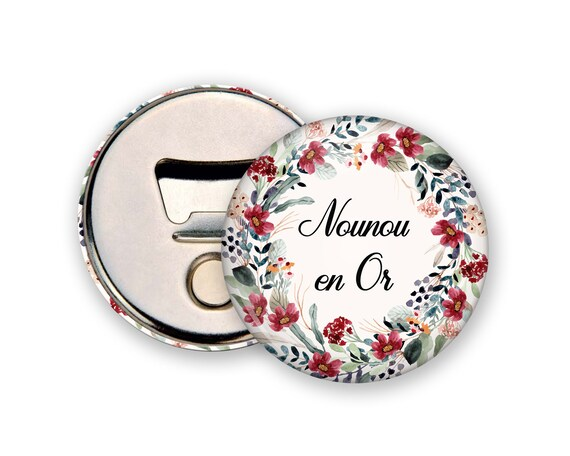 Black and White Frame Badge Decapsor to customize Flower Gift Pochon