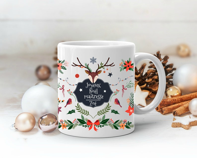 Mug rennes personnalisable - Créatrice ETSY : LaFabrik34