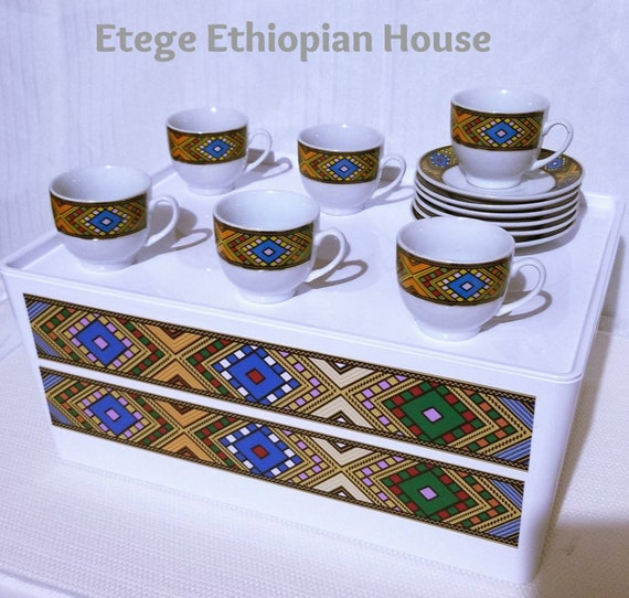 Traditional Art Ethiopian Coffee Set sheba coffee cups set 15