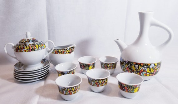 Jebena Ethiopian Coffee Cup 12pcs Set