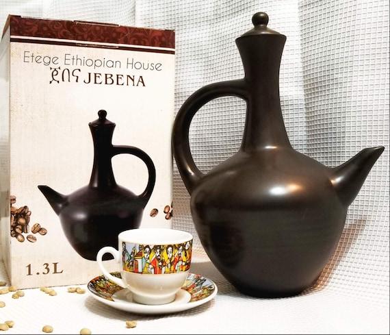 by HandMade Product Traditional Ethiopian Clay Coffee Pot Jebena//Jabana