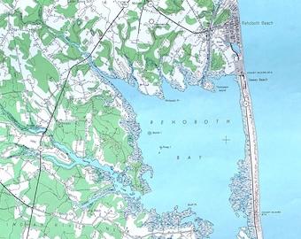 Rehoboth beach map   Etsy on