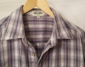 1ccf0053b 80s/90s Guess Jean's Mens Medium Flannel Button Up
