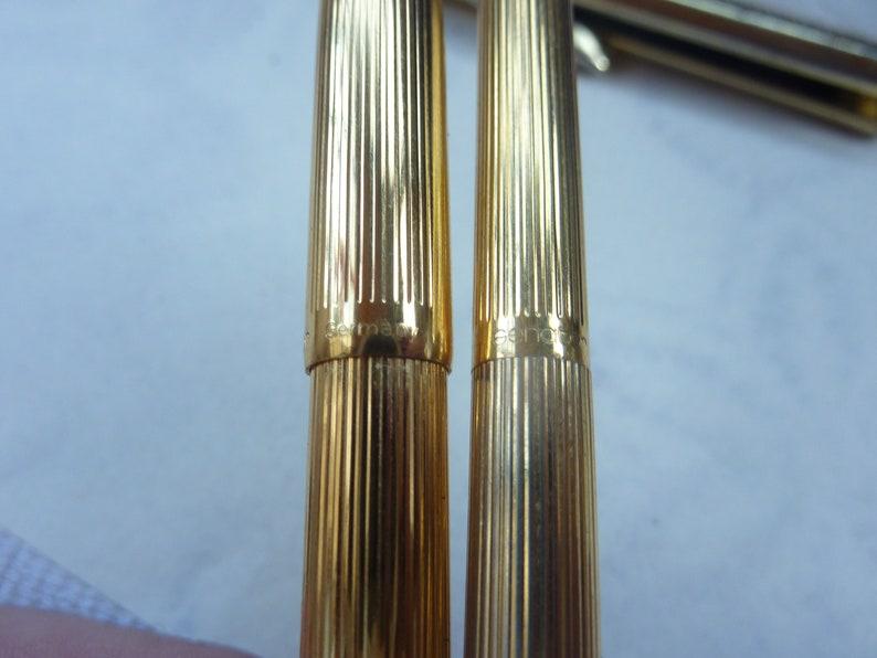 Senator ladies gold plated set ultra rare 14 ct gold nib