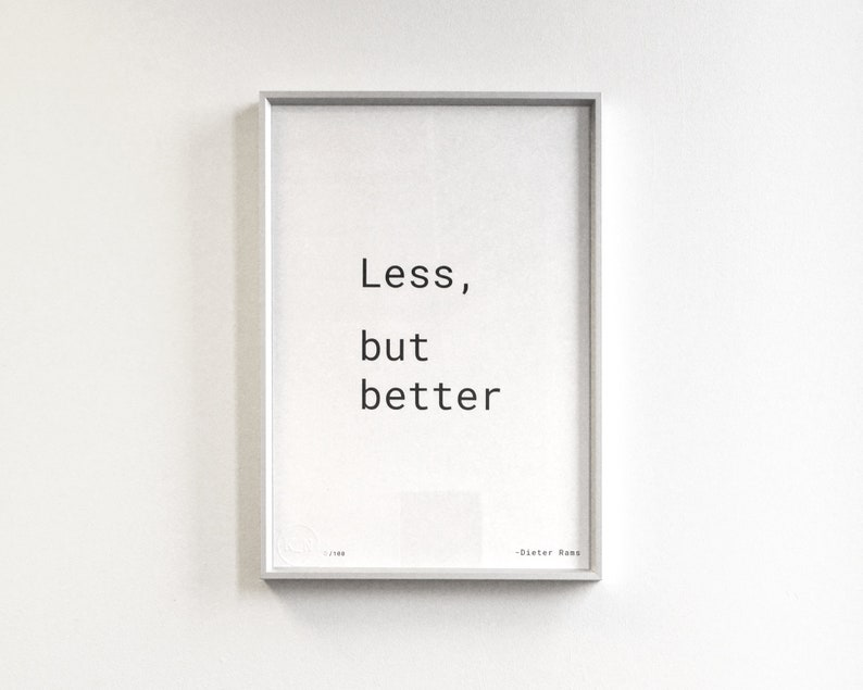 Less but better  A3 Risograph Print image 0