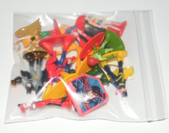 Batgirl and More! DC Super Friend Hero Girls Deluxe Mini Cake Toppers Cupcake Decorations Set of 14 with Figures a Sticker Sheet and Toy Ring Featuring Wonder Woman Supergirl