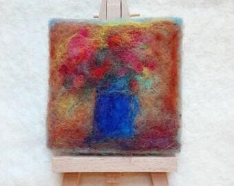 Mini Needle Felted Wool Painting