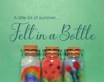 Felted Art in a Bottle