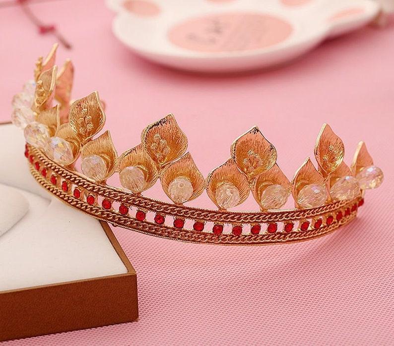 Fantasy Royal Crown renaissance Bridal English Queen Tiara