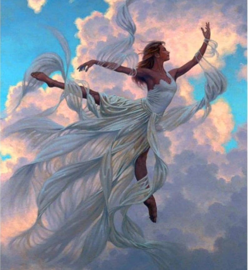 Paint By Number Kit Angel Flying In The Heavens Beautiful Woman In The Clouds Diy Fast Shipping Paintbynumbers